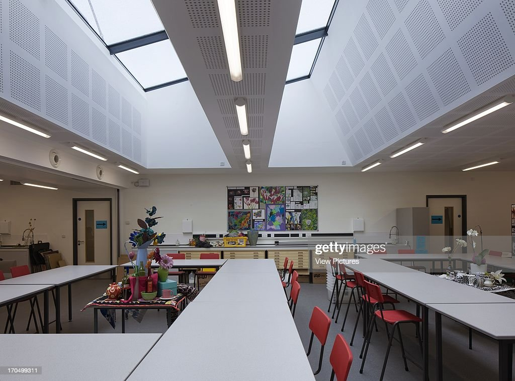Classroom Interior With Skylight Colstons Girls School Europe United Kingdom Avon Walters And Cohen