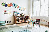 Classroom of kindergarten interior design