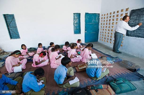 Classroom scene in a rural school