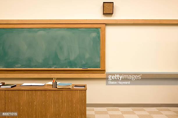 Classroom with blackboard