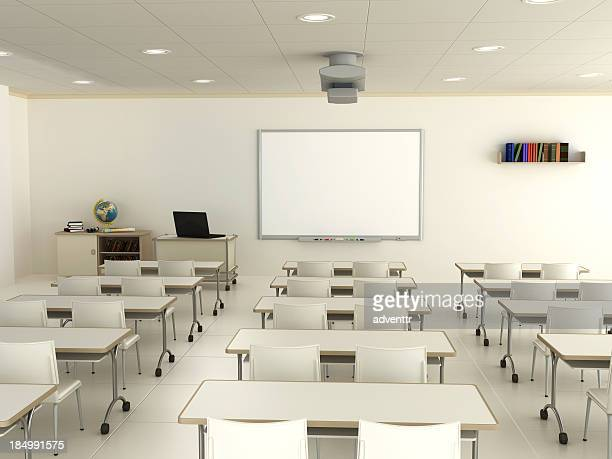 Classroom with interactive whiteboard