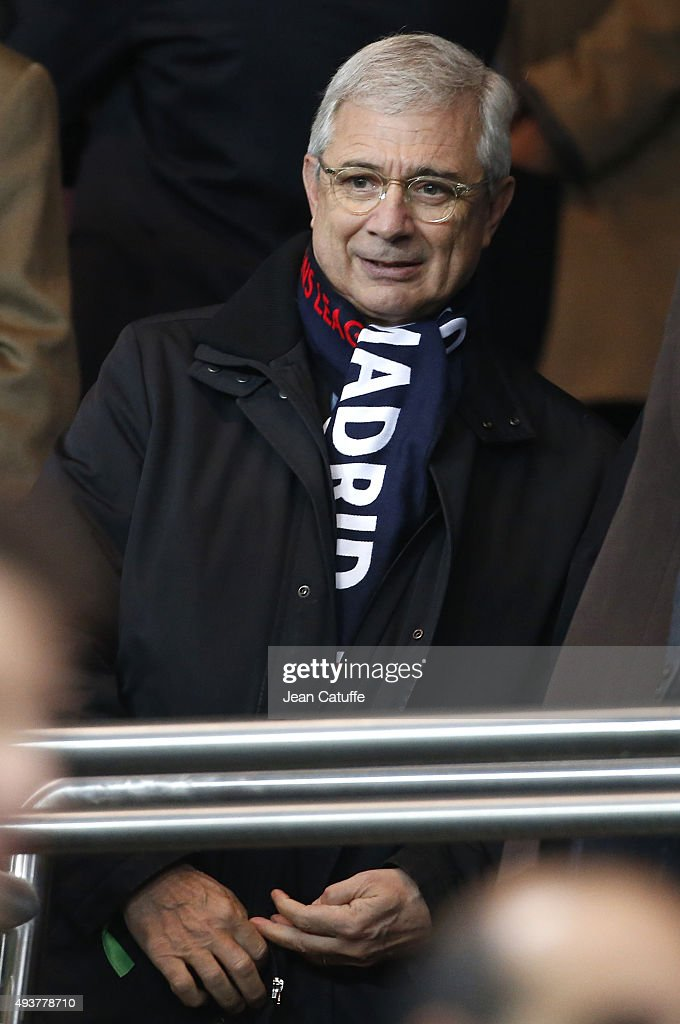 Claude Bartolone attends the UEFA Champions League match between Paris Saint-Germain (PSG) and Real Madrid at Parc des Princes stadium on October 21, 2015 in Paris, France.