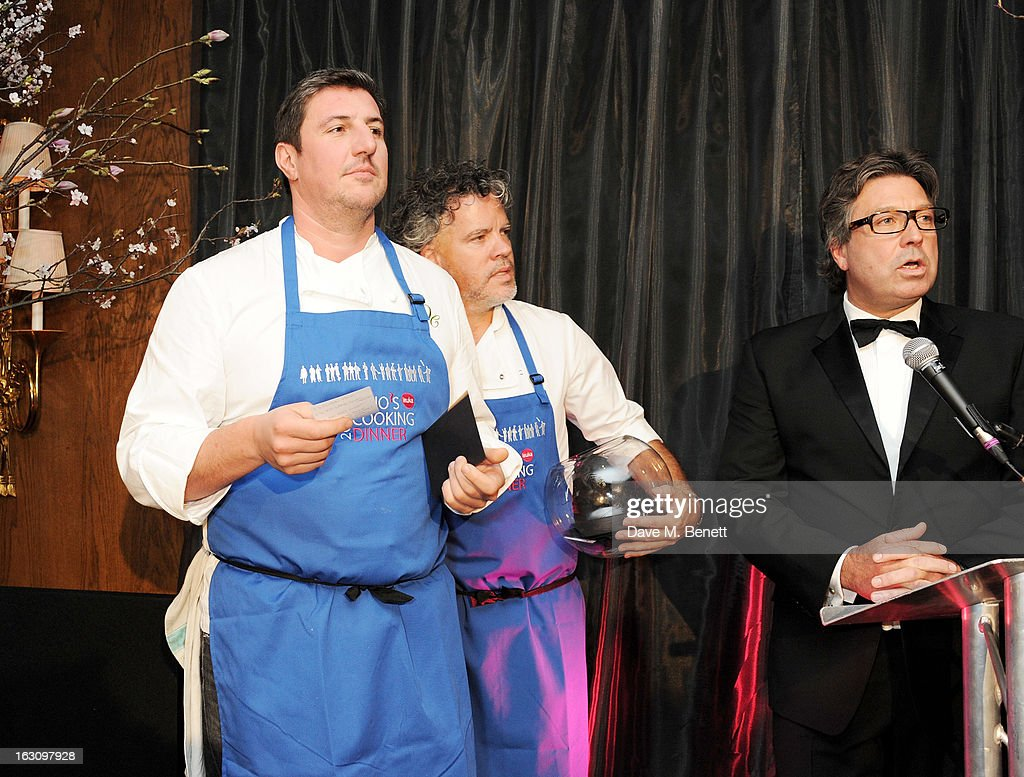 Claude Bosi, Peter Gordon and John Torode attend the 'Who's Cooking Dinner?' charity event, featuring 20 of the capital's finest chefs cooking dinner for 200 diners in aid of leukaemia charity Leuka, at the Four Seasons Hotel on March 4, 2013 in London, England.