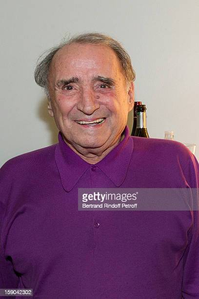 Claude Brasseur poses after attending the show of French impersonator Laurent Gerra at Olympia hall on January 5, 2013 in Paris, France.