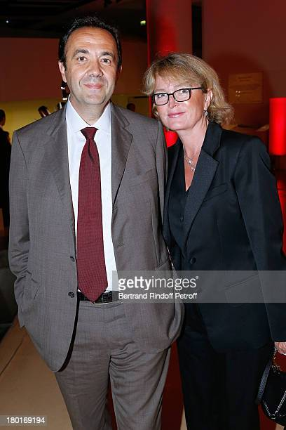 Claude Chirac with Husband Frederic SalatBaroux attend 'Friends of Quai Branly Museum Society' dinner party at Musee du Quai Branly on September 9...