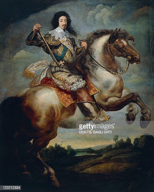 Claude Deruet Equestrian Portrait of Luigi XIII King of France and Navarre from 1610