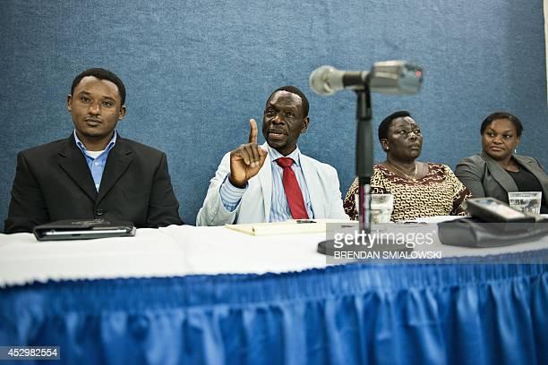 Claude Gatebuke a Rwandan genocide survivor and founder of the African Great Lakes Action Network Zoe Bakoko former Ugandan Cabinet Minister under...