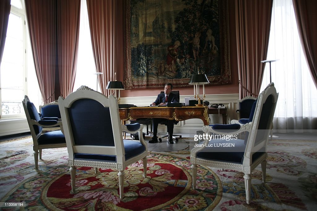 <a gi-track='captionPersonalityLinkClicked' href=/galleries/search?phrase=Claude+Gueant&family=editorial&specificpeople=861764 ng-click='$event.stopPropagation()'>Claude Gueant</a> In His Office At Elysee Palace In Paris, France On June 18, 2007 -