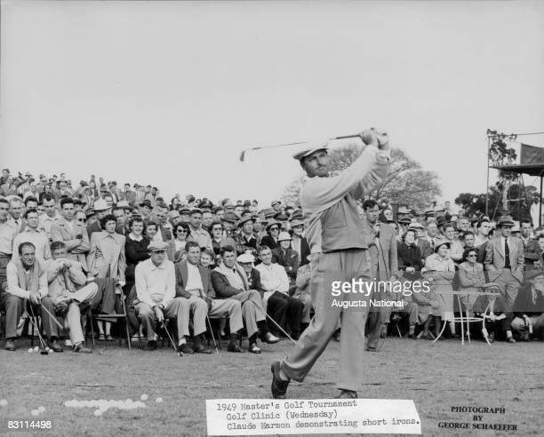 Claude Harmon Demonstrates At The Golf Clinic Of The 1949 Masters Tournament