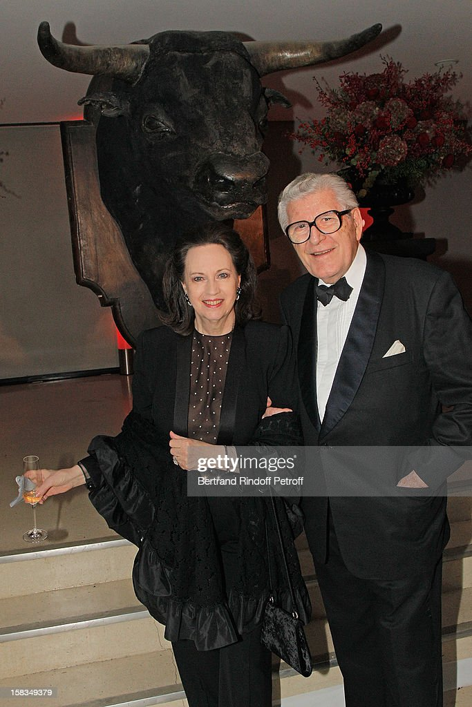 Claude Janssen (R) and his wife attend the Arop Gala event for Carmen new production launch at Opera Bastille on December 13, 2012 in Paris, France.