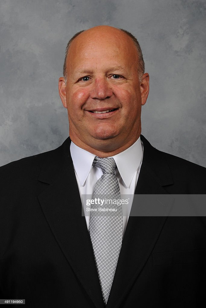<a gi-track='captionPersonalityLinkClicked' href=/galleries/search?phrase=Claude+Julien&family=editorial&specificpeople=582124 ng-click='$event.stopPropagation()'>Claude Julien</a> of the Boston Bruins poses for his official headshot for the 2015-2016 season on September 18, 2015 at the TD Garden in Boston, Massachusetts.
