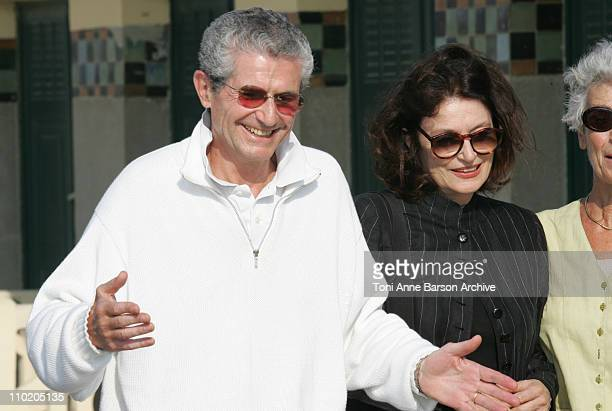 Claude Lelouch and Anouck Aimee during 30th Deauville American Film Festival 'Jury' Photocall at Les Planches in Deauville France