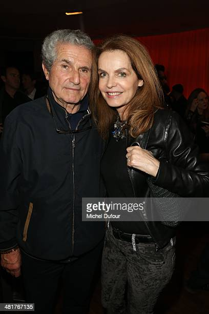 Claude Lelouch and Cyrielle Clair attend the 'Salaud On T'Aime' After Party at Cinema L'Elysee Biarritz presented by Benjamin Patou chairman of the...