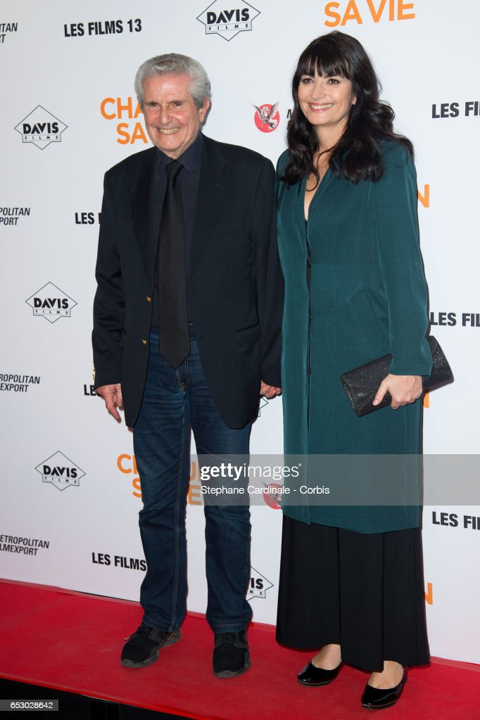Claude Lelouch and Valerie Perrin attend the 'Chacun Sa vie' Paris Premiere at Cinema UGC Normandie on March 13, 2017 in Paris, France.