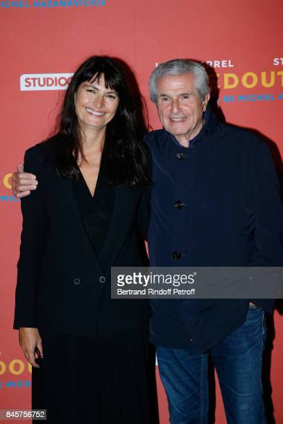 Claude Lelouch and Valerie Perrin attend the 'Le Redoutable' Paris Premiere at Cinema du Pantheon on September 11 2017 in Paris France