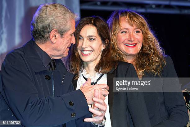 Claude Lelouch Anne Parillaud and Julie Ferrier attends opening ceremony of 27th Dinard British Film Festival on September 29 2016 in Dinard France