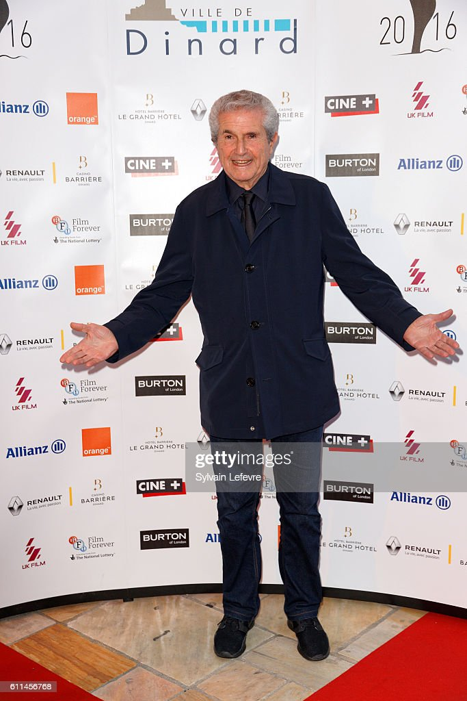 Claude Lelouch attends opening ceremony of 27th Dinard British Film Festival on September 29, 2016 in Dinard, France.