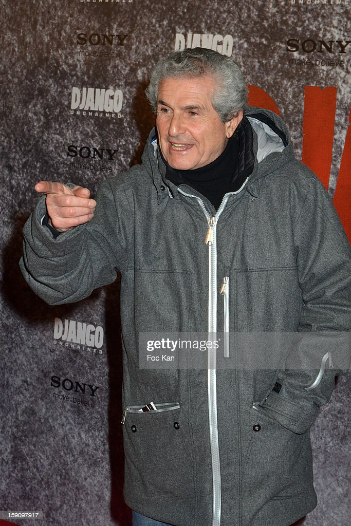 Claude Lelouch attends the 'Django Unchained' Paris premiere red carpet arrival at Le Grand Rex on January 7, 2013 in Paris, France.