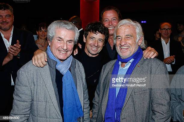 Claude Lelouch Patrick Bruel Michel Leeb and JeanPaul Belmondo who receives an Award and attend the 'Trophees du BienEtre' by Beautysane First Award...