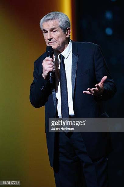 Claude Lelouch president of the Cesar Academy speaks on stage during The Cesar Film Award 2016 at Theatre du Chatelet on February 26 2016 in Paris...