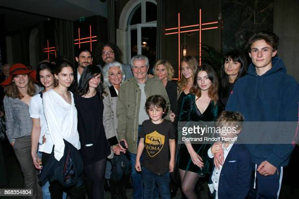 Claude Lelouch standing between his companion Valerie Perrin his sister Martine Lelouch his daughters Stella Lelouch Shaya Lelouch Sabaya Lelouch...