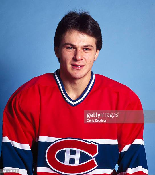 Claude Lemieux of the Montreal Canadiens poses for a photo Circa 1980 at the Montreal Forum in Montreal Quebec Canada
