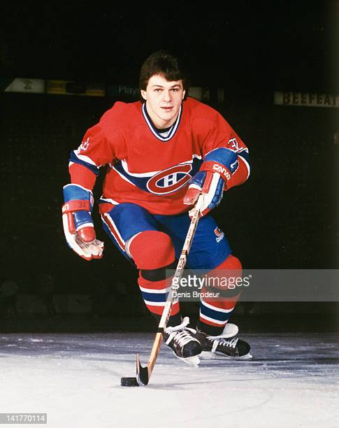 Claude Lemieux of the Montreal Canadiens poses for a photo on the ice Circa 1980 at the Montreal Forum in Montreal Quebec Canada