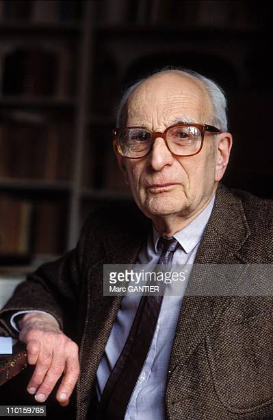 Claude Levi Strauss anthropologist in France in 1990
