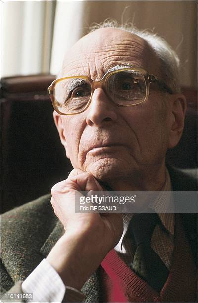 Claude Levi Strauss in France in August 1988