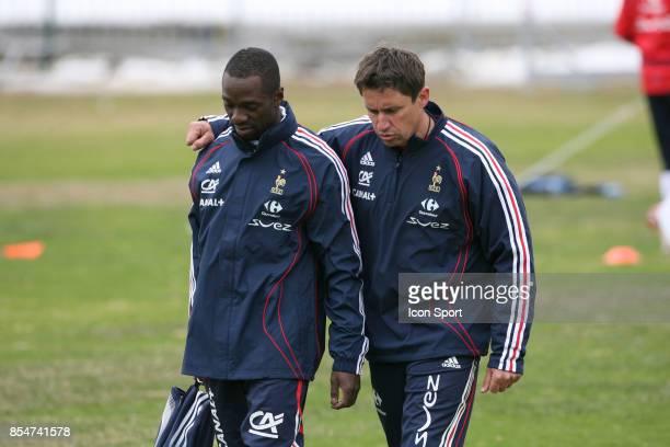 Claude MAKELELE et Robert DUVERNE Stage de Preparation de l'Equipe de France a Tignes en vue de la Coupe du Monde 2006 Tignes