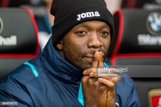 Claude Makelele looks on during the Premier League match between AFC Bournemouth and Swansea City at Vitality Stadium on March 18 2017 in Bournemouth...