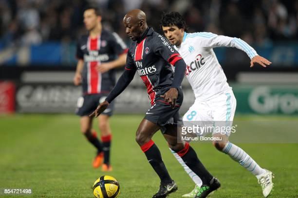 Claude MAKELELE / Lucho GONZALEZ Marseille / PSG 28eme journee de Ligue 1