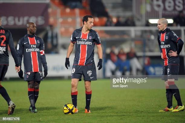 Claude MAKELELE / NENE / Christophe JALLET Auxerre / PSG 26eme journee de Ligue 1 Auxerre
