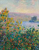 Claude Monet Flower Beds at Vétheuil oil on canvas 921 x 733 cm Museum of Fine Arts Boston
