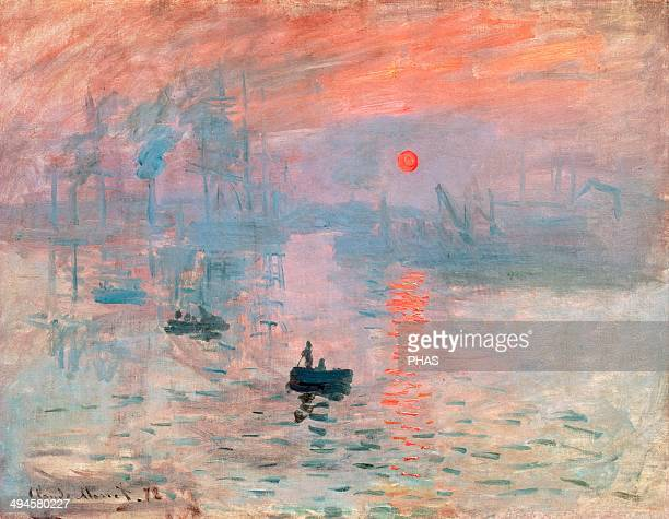Claude Monet Founder of French impressionist painting Impression Sunrise 1872 Oil on canvas Museum of Marmottan Monet Paris France