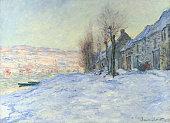 Claude Monet Lavacourt under Snow circa 18781881 Oil on canvas 597 x 806 cm National Gallery London England