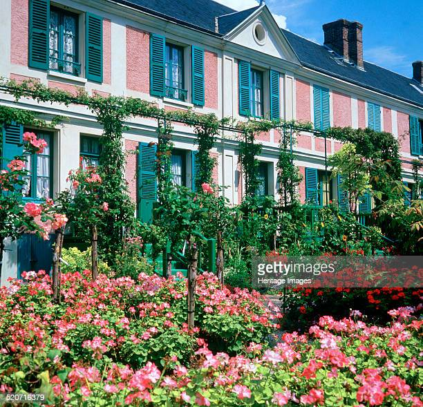 Claude Monet's house Giverny Normandy France Monet fell in love with the village of Giverny when he saw it from the window of a train he was...