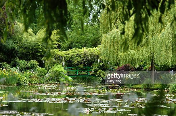 Claude Monet's Water Garden in Giverny near Paris France