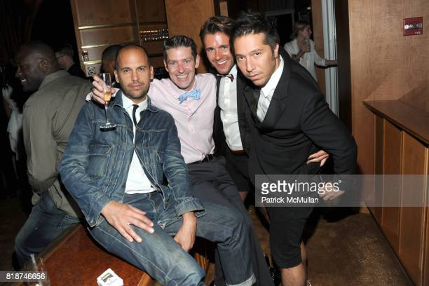 Claude Morais Eddie Roche Jared Reichert and Brian Wolk attend SWAROVSKI After Party for the 2010 CFDA Awards at The 18th Floor on June 7 2010 in New...