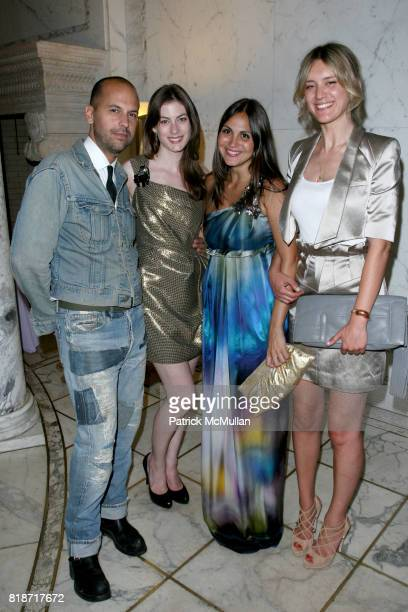 Claude Morais Jennifer Pastore Sabine Heller and Francis TulkHart attend The YOUNG PATRONS CIRCLE of AMERICAN FRIENDS Hosts SOIREE AU LOUVRE at Payne...