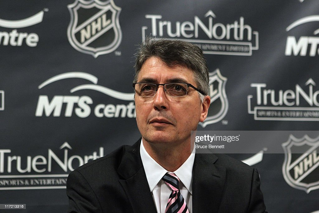Claude Noel is introduced as the new head coach for the unnamed Winnipeg franchise of the National Hockey League at the Westin Hotel on June 23, 2011 in Minneapolis, Minnesota.