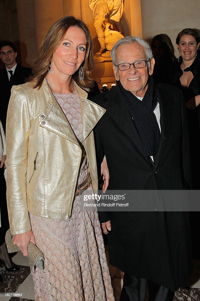 Claude Perdriel (R) and guest attend the gala dinner of Professor David Khayat's association 'AVEC', at Chateau de Versailles on February 4, 2013 in Versailles, France.