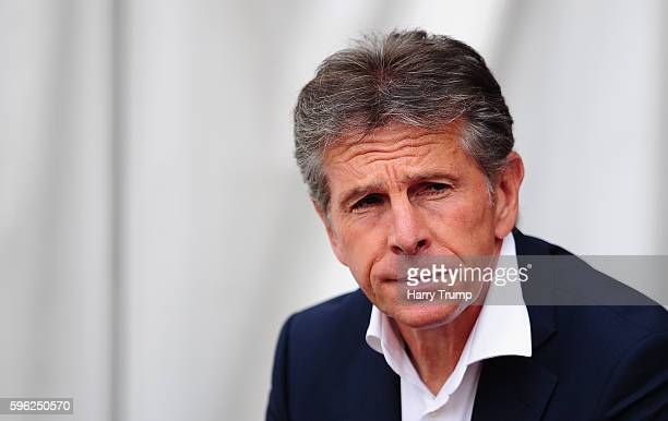 Claude Puel Manager of Southampton during the Premier League match between Southampton and Sunderland at St Mary's Stadium on August 27 2016 in...
