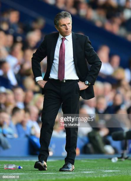 Claude Puel Manager of Southampton during the Premier League match between West Bromwich Albion and Southampton at The Hawthorns on April 8 2017 in...