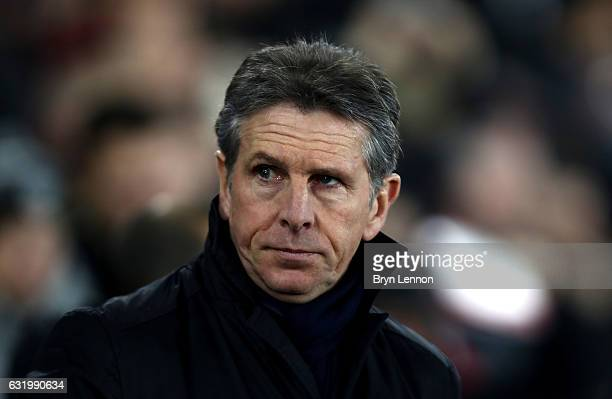 Claude Puel Manager of Southampton looks on during The Emirates FA Cup Third Round Replay match between Southampton and Norwich City at St Mary's...