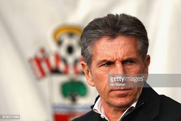 Claude Puel Manager of Southampton looks on during the Premier League match between Southampton and Chelsea at St Mary's Stadium on October 30 2016...