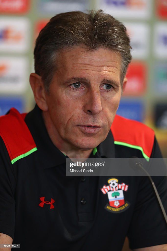 Claude Puel the manager of Southampton during the Southampton press conference at St Mary's Stadium on November 2, 2016 in Southampton, England.