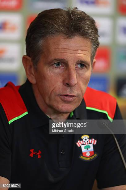 Claude Puel the manager of Southampton during the Southampton press conference at St Mary's Stadium on November 2 2016 in Southampton England