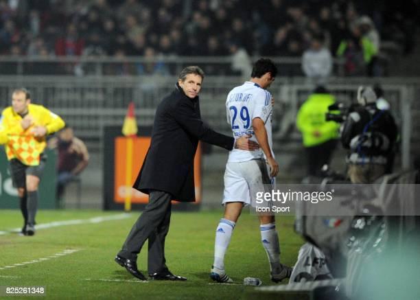 Claude PUEL / Yoann GOURCUFF Lyon / Bordeaux 22e journee de Ligue 1