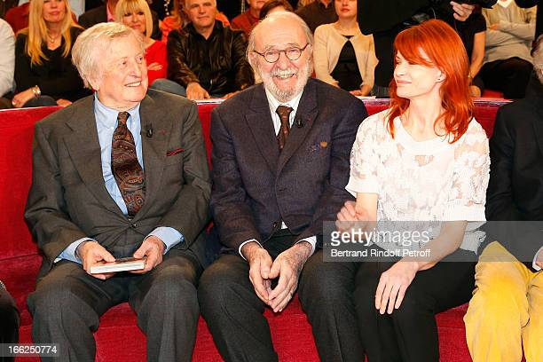 Claude Rich JeanPierre Marielle and Singer Axelle Red attend 'Vivement Dimanche' French TV Show for the 80th anniversary of JeanPaul Belmondo at...